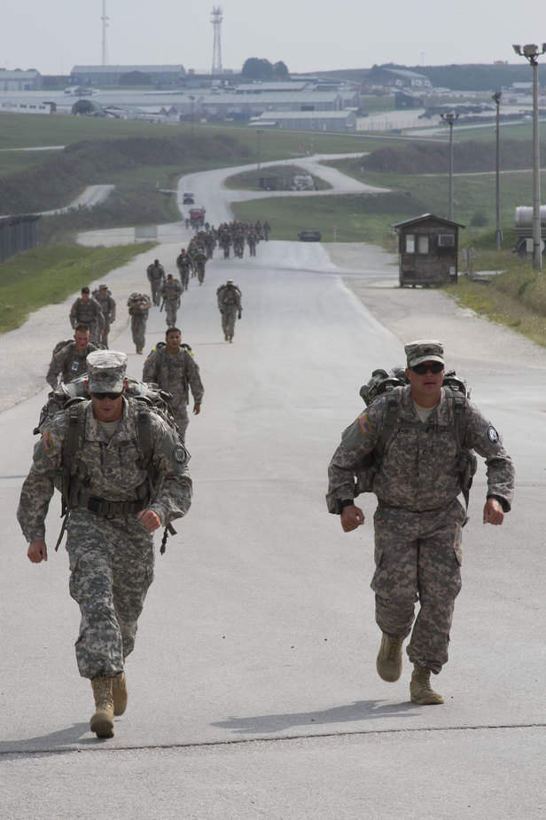 US Military Ruck March