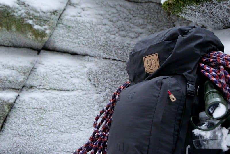 Close up photo of a rucksack