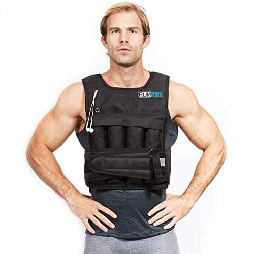 Man wearing the RUNmax pro weighted vest