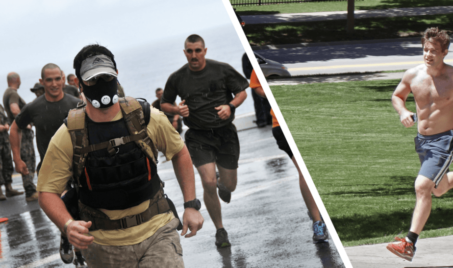 rucking vs running