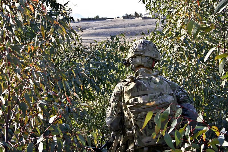 A soldier rucking on his own - Rucking for Strength
