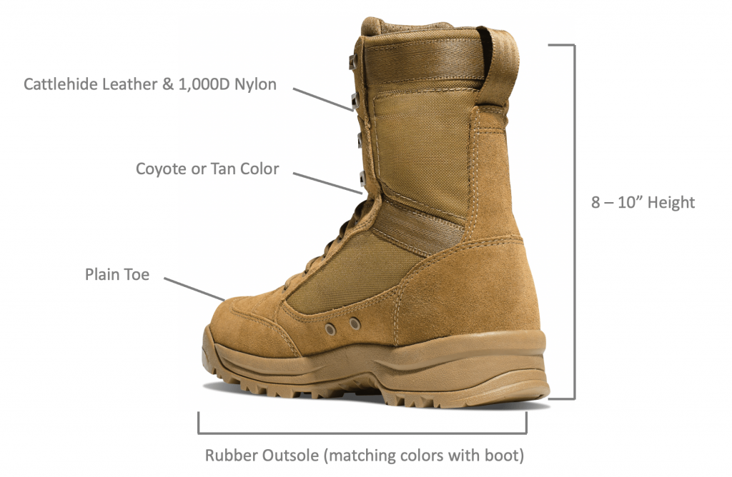 AR670-1 Boots specification illustration