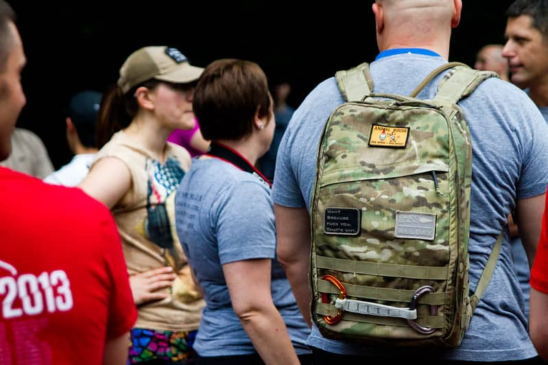 Group of ruckers | rucking how much weight - M